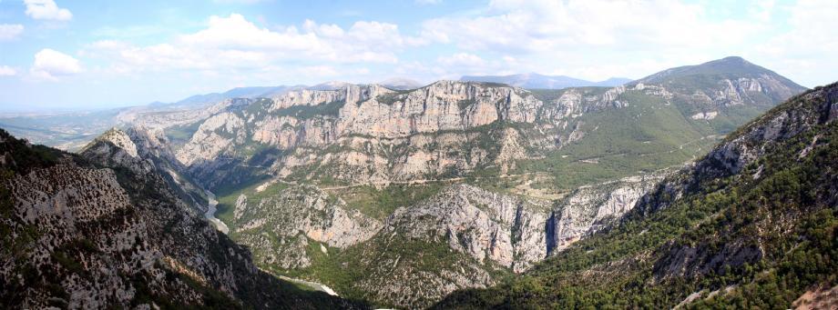 Vue du Canyon depuis la rive gauche