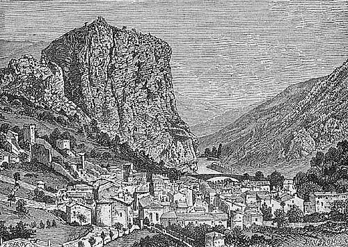 Gravure du Roc de Castellane