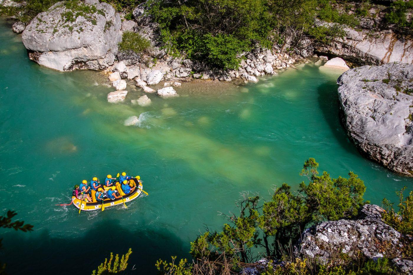 Rafting dans le Moyen Verdon